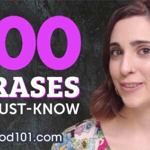 500 Phrases Every Spanish Beginner Must Know