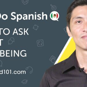 How to Ask About Well-Being in Spanish  - Can Do #10