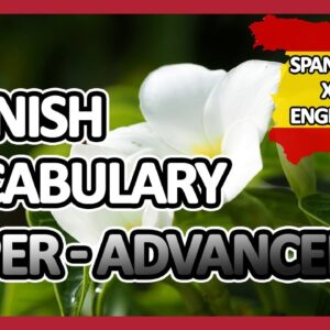 Learn Spanish |Part 16: Spanish Vocabulary Upper-advanced | Golearn