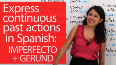 Learn Spanish: What were you doing? I was listening to music: Learn to express lasting, past actions