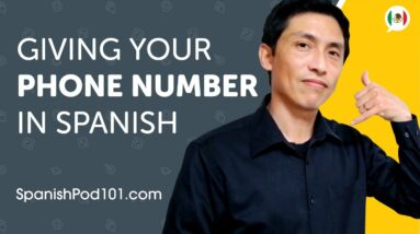 Learn How to Give Your Phone Number in Spanish | Can Do #4