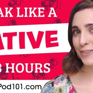 You Just Need 3 Hours! You Can Speak Like a Native Spanish Speaker