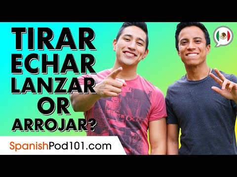 """What is the difference between """"Tirar"""",""""Echar"""", """"Lanzar"""" and """"Arrojar""""?  (to throw in Spanish)"""