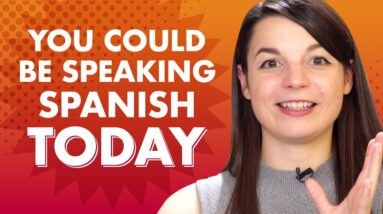 What if you could learn a Spanish conversation in minutes?