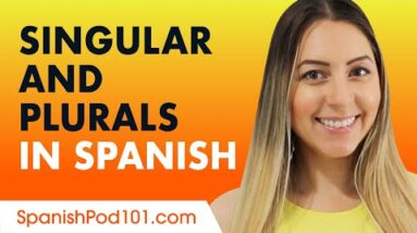 How to form Singular and Plurals in Spanish - Basic Grammar