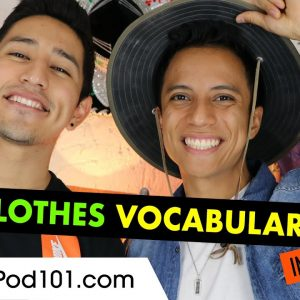Clothes related vocabulary in Spanish